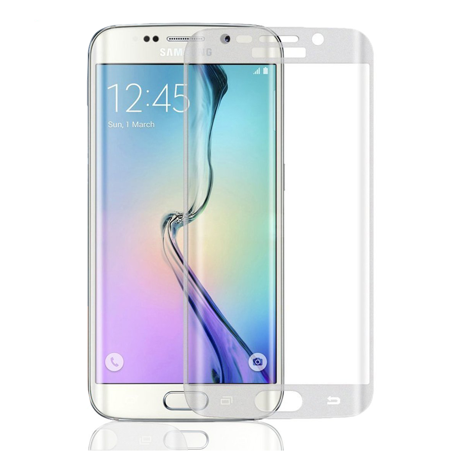 new concept 17df5 893eb Full Covered Tempered Glass Screen Protector – Samsung Galaxy S7 Compatible  Clear
